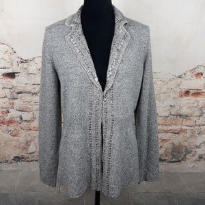 Banana Republic XL Marled Gray Grey Sequin Sweater